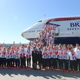 TEAM GB ARRIVE HOME 'VICTORIOUS'