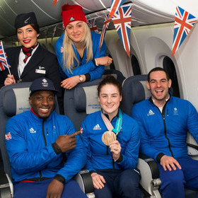 TEAM GB RETURN BACK TO THE UK WITH BRITISH AIRWAYS