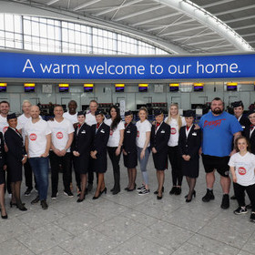 GOOD SPORTS! BRITISH AIRWAYS CELEBRITY DREAM TEAM TAKE-OVER