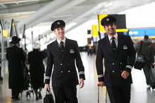 British Airways pilots in Heathrow Terminal 5