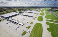 Aerial view of Stansted Airport