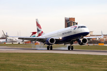 Aircraft lands at London City Airport