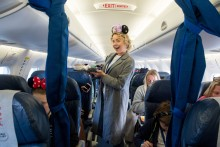 Lydia Bright during the flight