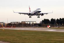 Aircraft lands at London City Airport