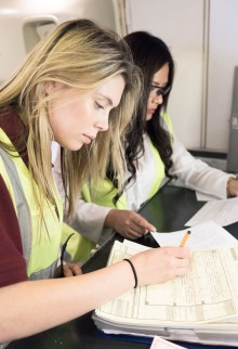 Eleanor Levitt (left), British Airways Engineering graduate