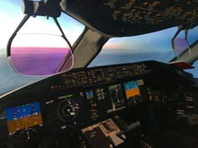 View from the flight deck