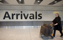 A customer arrives at Heathrow Terminal 5