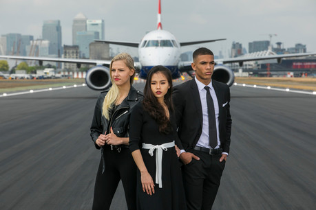 Models from Model Students help launch new London City to Milan route