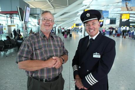 British Airways Captain Steve Allright and Ronnie
