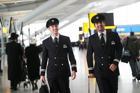 British Airways pilots in Heathrow Terminal 5