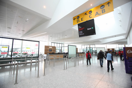 British Airways customers at Heathrow Terminal 3