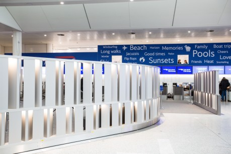 British Airways' new check in area in the South Terminal