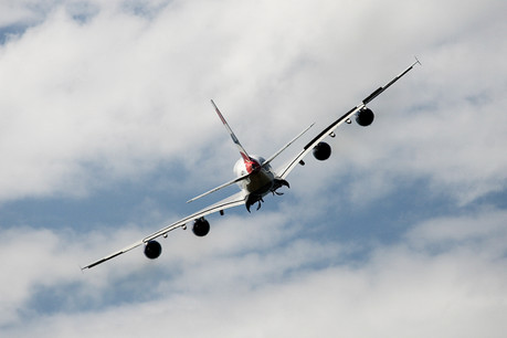 A380 take off from Cardiff