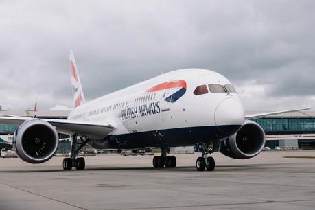 British Airways' 25th Boeing 787 Dreamliner arrives at Heathrow