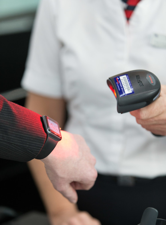 British Airways' Apple watch scanner