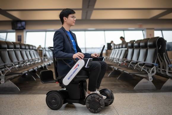 British Airways trials utonomous mobility device at New York JFK Airport