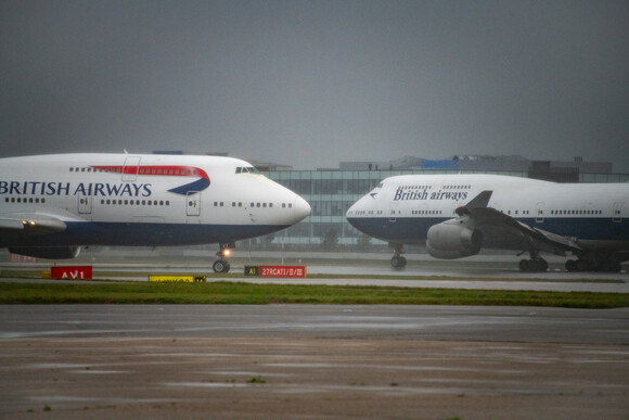 Final BA 747s Depart Heathrow