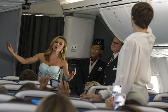 Katherine Jenkins performs at 40,000ft on a BA Dreamliner to Moscow