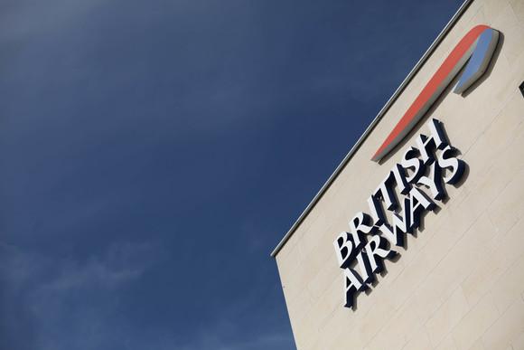 British Airways logo on headquarters building