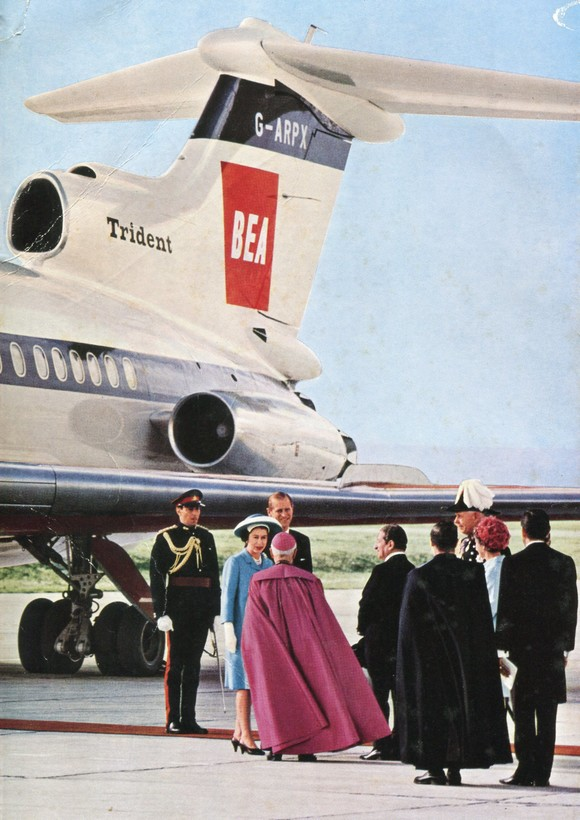 Centenary Archive Collection - Her Majesty The Queen on a state visit to Malta on a BEA Trident