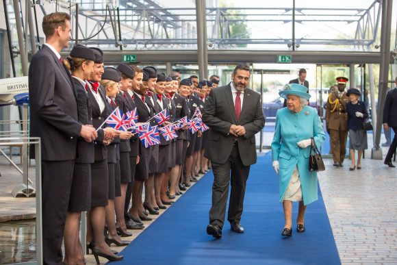 Image result for Her Majesty, The Queen Visits British Airways