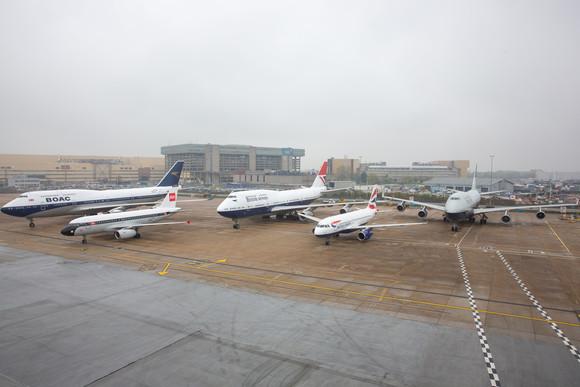British Airways - ALL FOUR BRITISH AIRWAYS HERITAGE LIVERIES COME