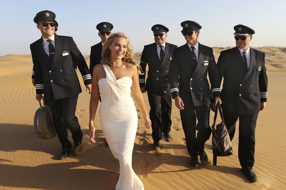 MARGOT ROBBIE CELEBRATES BRITISH AIRWAYS NEW 787-9 IN LIWA DESERT, ABU DHABI