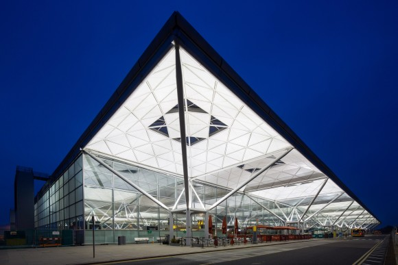 Exterior of Stansted Airport terminal