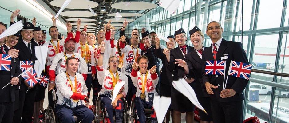 PARALYMPICSGB ARRIVE HOME 'VICTORIOUS'